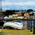 Fishing Boat In Kinsale - Painterly by Les Palenik