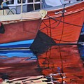 Fishing Boat Reflections by Donna Tuten