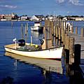 Fishing Boats At Dock Ocracoke Village by Thomas R Fletcher