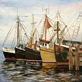 Fishing Boats At Hh by Ronald Dill