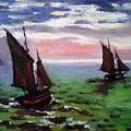 Fishing Boats At Sea by Peter Kupcik