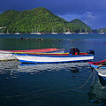 Fishing Boats At Sunrise- St Lucia by Chester Williams