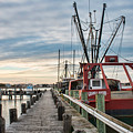 Fishing Boats At The Pier by Kristia Adams