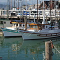 Fishing Boats In San Francisco by Gene Sizemore