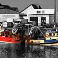 Fishing Boats In Sheltered Harbour by Aidan Moran