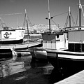 Fishing Boats Monochrome by Jeff Townsend