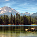 Fishing By Mount Lassen by James Eddy