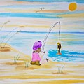 Fishing Girl by Shelley Smith