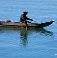 Fishing In Atitlan Lake by Nettie Pena