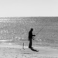 Fishing In Black And White by Gary Oliver
