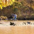 Fishing In Fall by Sheila Brown