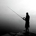 Fishing In Fog by Jean Macaluso