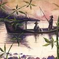 Fishing In The Sunset   by Alban Dizdari