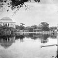 Fishing In Washington Dc Bw by Joan Carroll