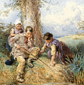 Fishing by Myles Birket Foster
