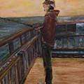 Fishing Off Sausalito Boardwalk by Marcelle Schvimmer