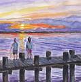 Fishing On The Dock by Clara Sue Beym