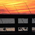 Fishing Poles Mount Sinai New York  by Bob Savage