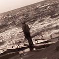 Men Fishing, Alexandria, Egypt by Samuel Pye