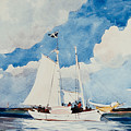 Fishing Schooner In Nassau by Winslow Homer
