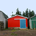Fishing Shacks  Prince Edward Island  Canada by Thomas Marchessault