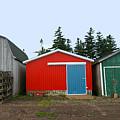 Fishing Shacks  Prince Edward Island  Canada by Thomas Marchessault