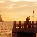 Fishing The Gulf by David Lee Thompson