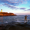 Fishing The Nubble by Skip Willits