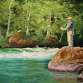 Fishing The Umpqua by Nancy Jolley