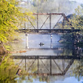 Fishing Under The Trestle by Debra and Dave Vanderlaan