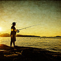 Fishing Until The Sun Goes Down by Roxy Hurtubise
