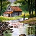 Fishing Upstream by Shirley Braithwaite Hunt