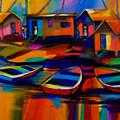 Fishing Village by Cynthia McLean