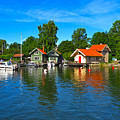 Fishing Village Of Vaxholm Sweden by Greg Matchick
