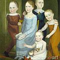 Five Children Of The Budd Family by American 19th Century
