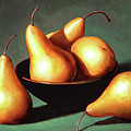 Five Golden Pears With Bowl by Frank Wilson
