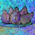 Five Pears On A Platter by Wayne Potrafka