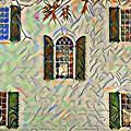 Five Windows Watercolor by Bill Cannon