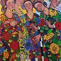 Five Women And The Iris by Marilene Sawaf