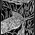 Fjord Norway - Limited Edition Linocut Print by Sascha Meyer