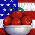 Flag And Apples by Linda Mears