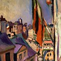 Flag Decorated Street 1906 by Renoir PierreAuguste
