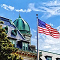 Flag Flying Over Tecumseh Court by Susan Savad