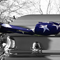 Flag For The Fallen - Selective Color by Al Powell Photography USA