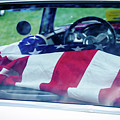 Flag In The  1955 Chevy Bel Air by Gaetano Chieffo