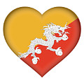 Flag Of Bhutan Heart by Roy Pedersen