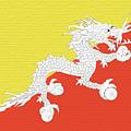 Flag Of Bhutan Wall by Roy Pedersen