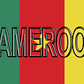 Flag Of Cameroon Word. by Roy Pedersen