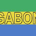 Flag Of Gabon Word. by Roy Pedersen
