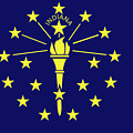 Flag Of Indiana by Roy Pedersen